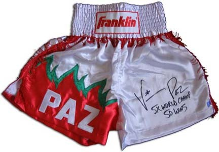 Vinny Paz Autographed Custom Boxing Trunks
