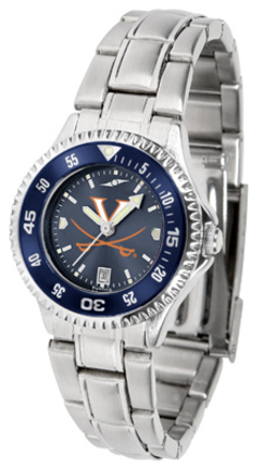 Virginia Cavaliers Competitor AnoChrome Ladies Watch with Steel Band and Colored Bezel