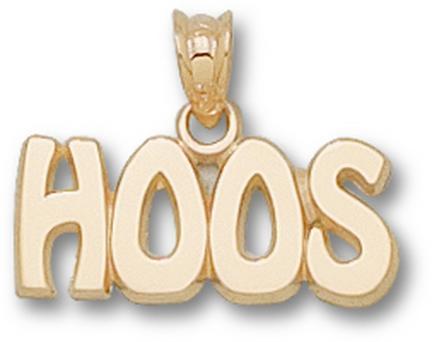 "Virginia Cavaliers ""Hoos"" 5/16"" Pendant - 10KT Gold Jewelry"