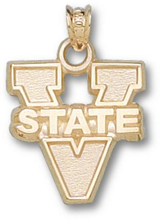 """Virginia State Trojans 5/8"""" """"V State"""" Pendant - 10KT Gold Jewelry"""