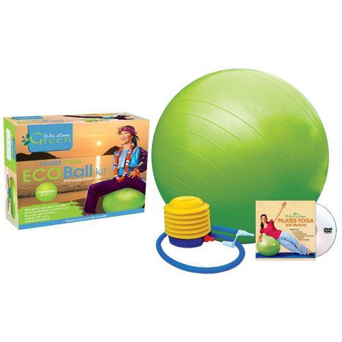 Wai Lana Productions G-1151DM Pilates Yoga Eco Ball Kit with DVD - Medium