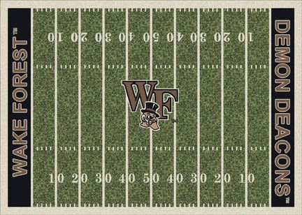 """Wake Forest Demon Deacons 3' 10"""" x 5' 4"""" Home Field Area Rug"""