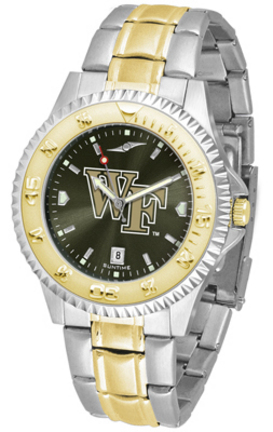 Wake Forest Demon Deacons Competitor AnoChrome Two Tone Watch