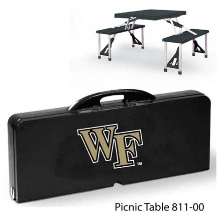 Wake Forest Demon Deacons Portable Folding Table and Seats