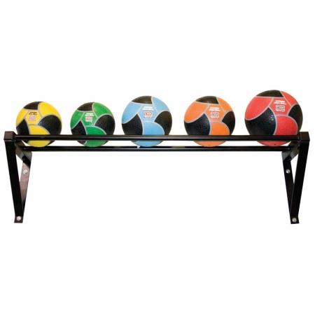 Wall-Mounted Med Ball Rack