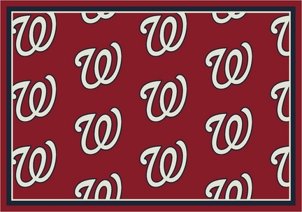 "Washington Nationals 2' 1"" x 7' 8"" Team Repeat Area Rug Runner"