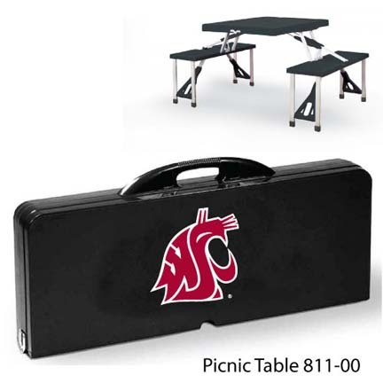 Washington State Cougars Portable Folding Table and Seats