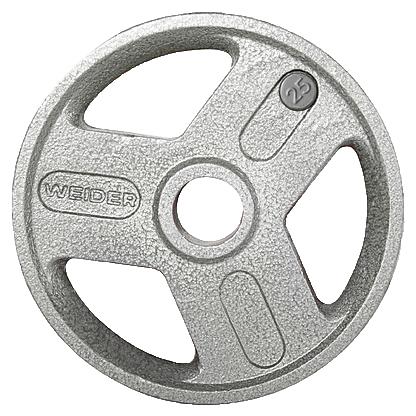 Weider HOPH25 25 lbs Olympic Handle Hammertone Plate Gray