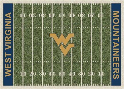 "West Virginia Mountaineers 3' 10"" x 5' 4"" Home Field Area Rug"