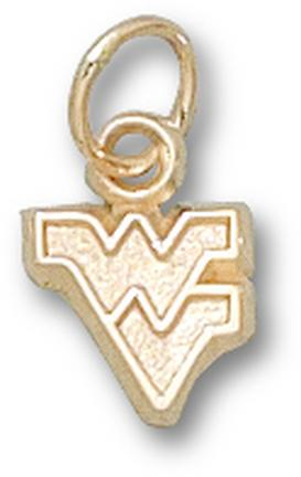 """West Virginia Mountaineers """"WV"""" 1/4"""" Outlined Lapel Pin - 14KT Gold Jewelry"""