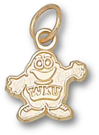 """Western Kentucky Hilltoppers """"Big Red"""" 3/8"""" Charm - 14KT Gold Jewelry"""