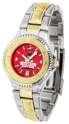 Western Kentucky Hilltoppers Competitor AnoChrome Ladies Watch with Two-Tone Band