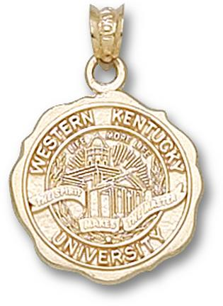 "Western Kentucky Hilltoppers ""Seal"" Pendant - 10KT Gold Jewelry"
