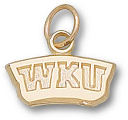 "Western Kentucky Hilltoppers ""WKU"" 1/4"" Charm - 14KT Gold Jewelry"