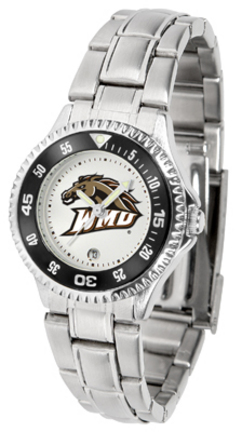 Western Michigan Broncos Competitor Ladies Watch with Steel Band