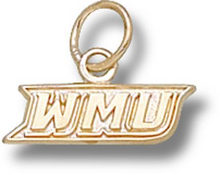 """Western Michigan Broncos New """"WMU"""" 3/16"""" Charm - 10KT Gold Jewelry"""