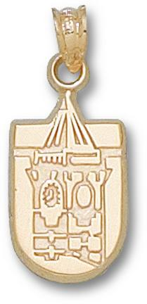 """Winthrop Eagles """"Tower Logo"""" Pendant - 10KT Gold Jewelry"""
