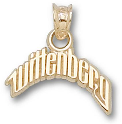 """Wittenberg Tigers Arched """"Wittenberg"""" Pendant - 14KT Gold Jewelry"""