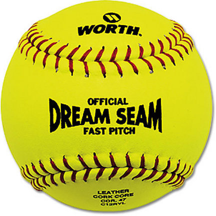 Worth 12'' Dream Seam Fastpitch Softballs (1 Dozen)