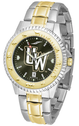 Wyoming Cowboys Competitor AnoChrome Two Tone Watch