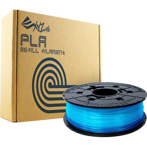 XYZprinting RFPLBXUS05G 1.75 mm PLA Refill Filament Clear Blue