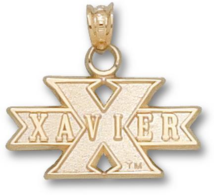 "Xavier Musketeers ""Xavier in X"" Pendant - 10KT Gold Jewelry"