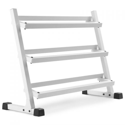 Xmark Fitness XM-3107.1-WHITE 4 ft. Three Tier Dumbbell Rack