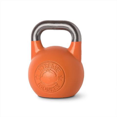 Xtreme Monkey XM-3918 28 kg Steel Competition Kettle Bells - Orange & Silver