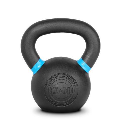 Xtreme Monkey XM-4604 12 kg Commercial Cast Iron Kettle Bells - Black & Blue