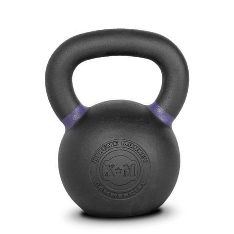 Xtreme Monkey XM-4606 20 kg Commercial Cast Iron Kettle Bells - Black & Purple