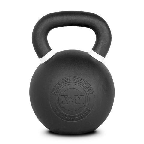 Xtreme Monkey XM-4611 40 kg Commercial Cast Iron Kettle Bells - Black & White