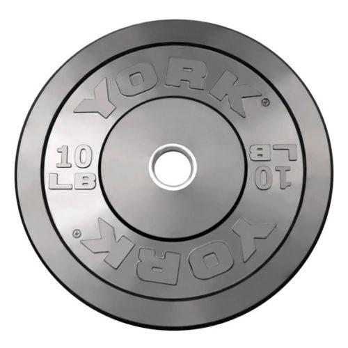 York Barbell 29067 10 lb. Solid Rubber Training Bumper