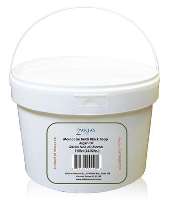 Zakias Morocco Sop-102 -Pro 5 K Moroccan Argan Oil Soap Black