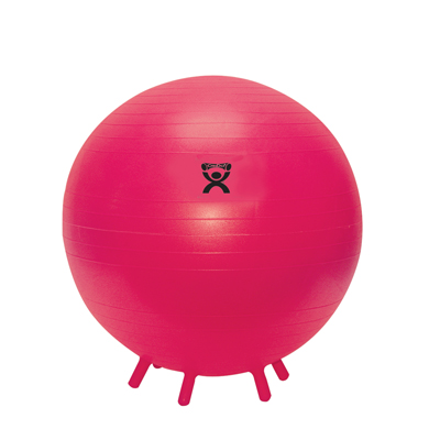29.5 in. Cando Feet Ball Inflatable Exercise Ball with Stability Feet - Red