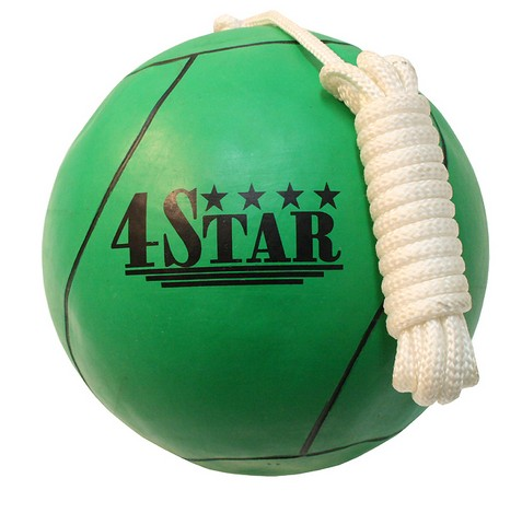 382 New Green Tether Ball for Play Grounds & Picnics with Rope