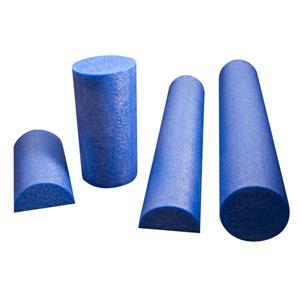 6 x 36 in. PE Foam Half Round Roller - Blue