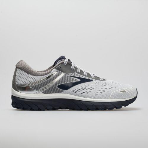 Brooks Adrenaline GTS 18: Brooks Men's Running Shoes White/Grey/Navy