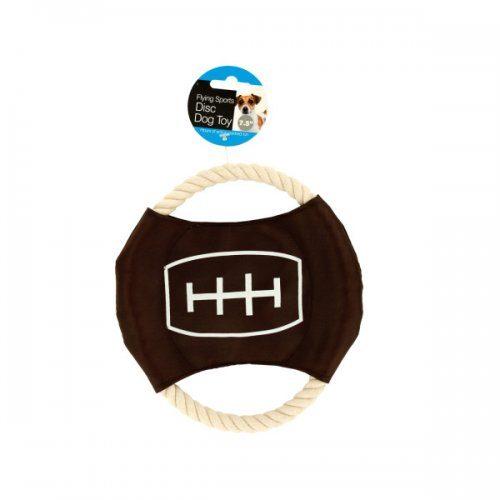 Bulk Buys DI247 Flying Sports Disc Dog Toy - Black Brown White Orange Beige