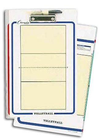 Champion Sports 13168 10 x 16 in. Volleyball Double-Sided Coaching Board