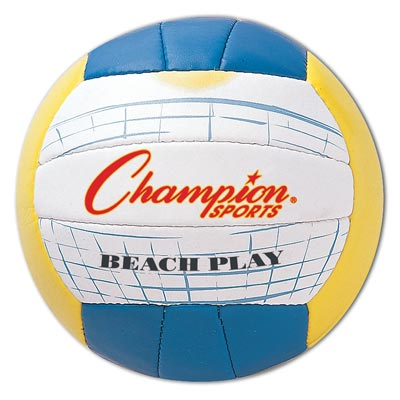 Champion Sports 61277 Beach Volleyball Official Size Multi Colored