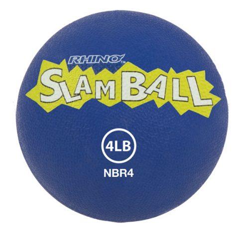 Champion Sports NBR4 4 lbs Rhino Slam Ball Blue