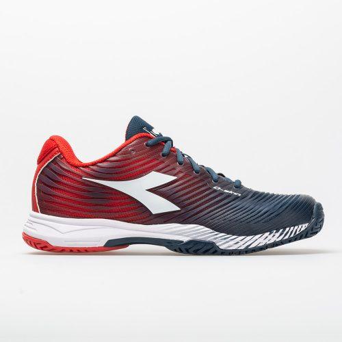 Diadora Speed Competition 4 AG: Diadora Men's Tennis Shoes Dark Blue/Red Capital