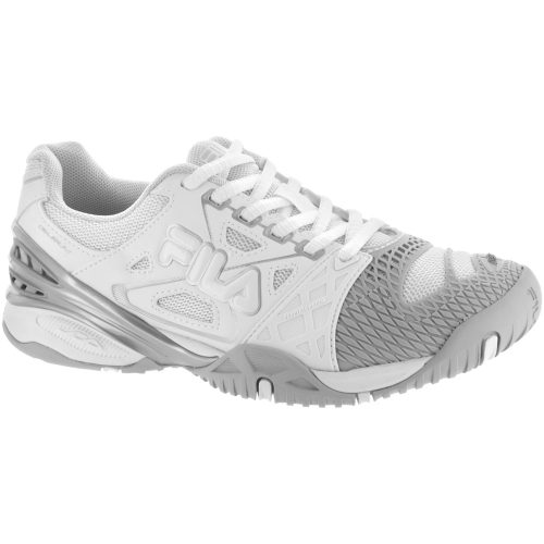 Fila Cage Delirium: Fila Women's Tennis Shoes White/Vapor Blue/Metallic Silver