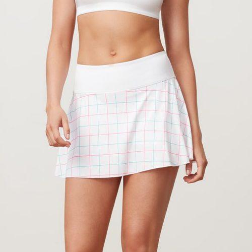 Fila Windowpane Flirty Skirt: Fila Women's Tennis Apparel