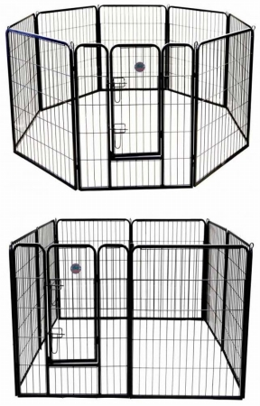 Go Pet Club GH24 24 in. Heavy Duty Pet Play And Exercise Pen With 8 Panels