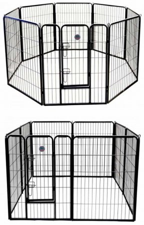 Go Pet Club GH40 40 in. Heavy Duty Pet Play And Exercise Pen With 8 Panels