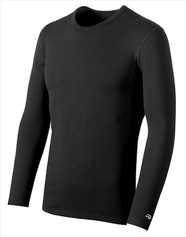 Hanes KEW1 Duofold Varitherm Performance 2-Layer Mens Long-Sleeve Thermal Shirt Size Large Black
