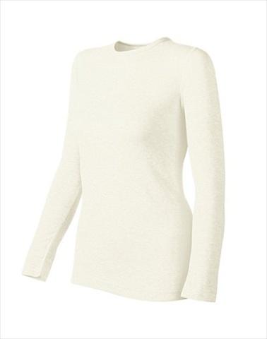Hanes KWM1 Duofold Originals Mid-Weight Womens Thermal Shirt Size Medium Winter White