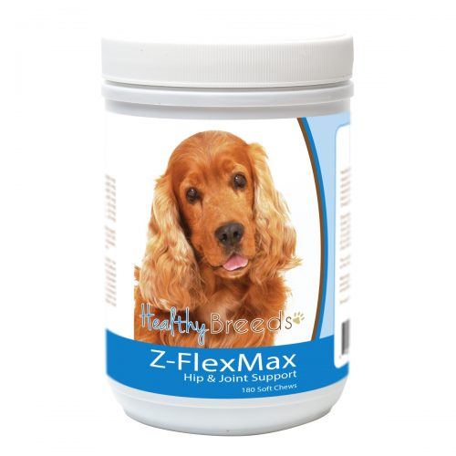 Healthy Breeds 840235155621 Cocker Spaniel Z-Flex Max Dog Hip & Joint Support - 180 Count