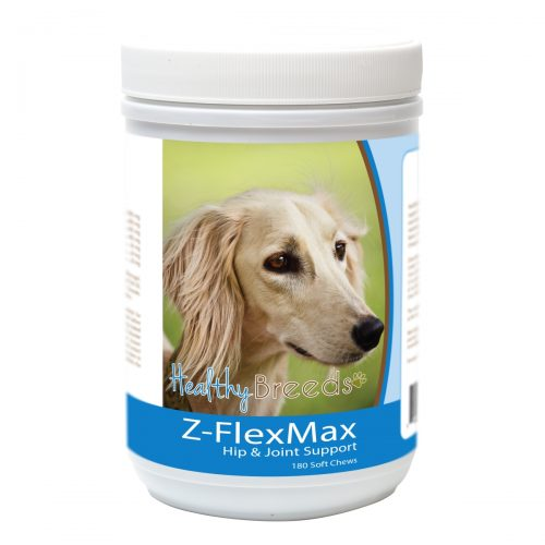 Healthy Breeds 840235156055 Saluki Z-Flex Max Dog Hip & Joint Support - 180 Count